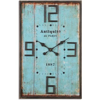 Uttermost Antiquite Blue Wall Clock