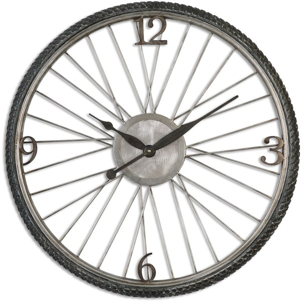 Uttermost Spokes Antiqued Wall Clock