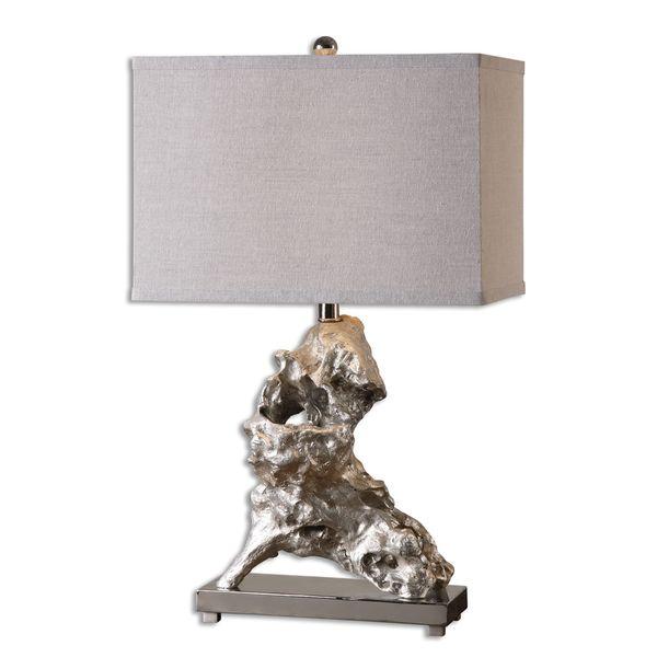 Uttermost Rilletta 1-light Metallic Silver Leaf Table Lamp