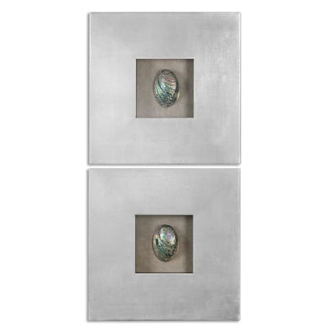Uttermost Abalone Shells Silver Wall Art (Set of 2)