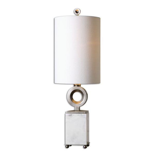 Uttermost Palos White Alabaster Buffet Lamp