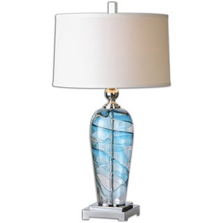 Uttermost Andreas 1-light Blue Accented Table Lamp