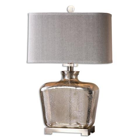 Uttermost Molinara 1-light Speckled Mercury Glass Table Lamp