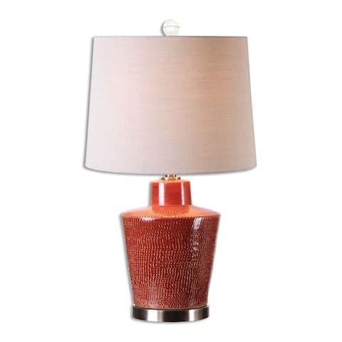 Uttermost Cornell 1-light Brick Red Table Lamp