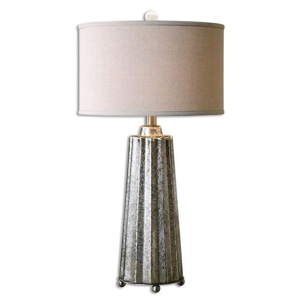Uttermost Sullivan 1-light Burnished Mercury Table Lamp - Silver