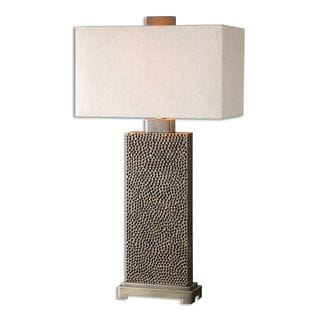 Uttermost Canfield 1-light Blackened Brown Table Lamp