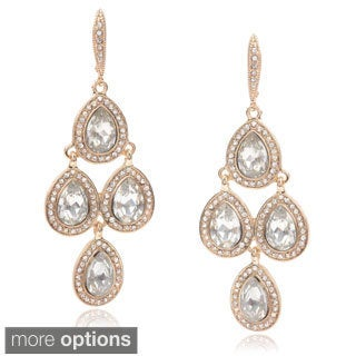 Journee Collection Brass Cubic Zirconia Fashion Dangle Earrings