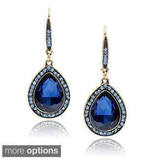 Journee Collection Brass Cubic Zirconia Fashion Dangle Earrings