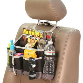 FH Group Gray Black Heavy-duty Oxford Fabric E-Z Travel Car Seat Multi-pocket Storage Bag