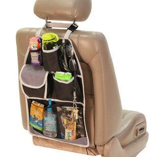 FH Group Gray Black Heavy-duty Oxford Fabric E-Z Travel Car Seat Back Organizer