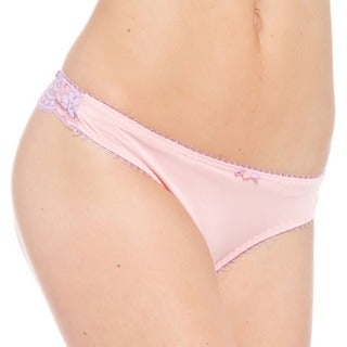 Prestige Biatta Victoria Microfiber Cross Dyed Lace Thong