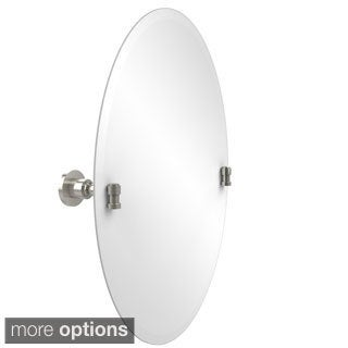 """Frameless Oval Tilt Wall Mirror with Beveled Edge, Washington Square Collection - 22""""d (More options available)"""