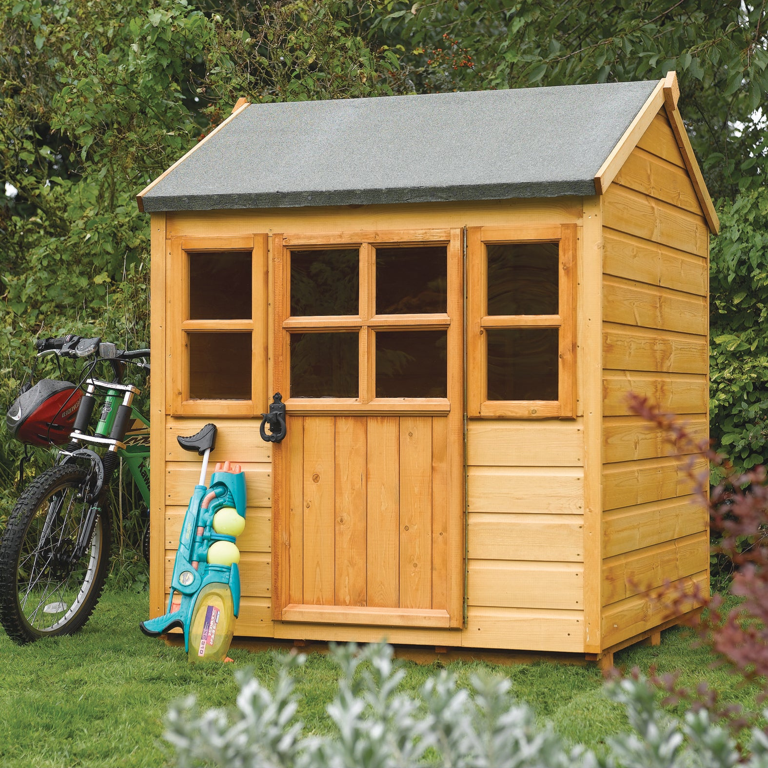 Rowlinson Children's Outdoor Wood Play House (Childrens O...