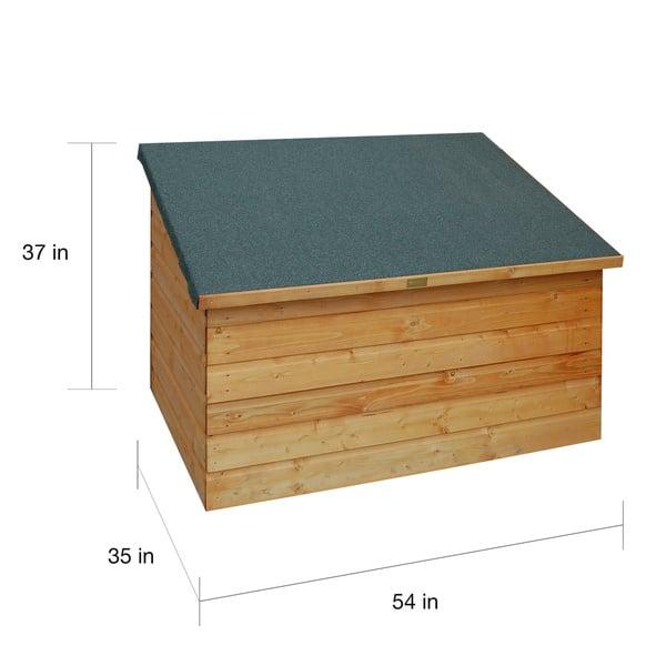 Outdoor Wood Deck Storage Box