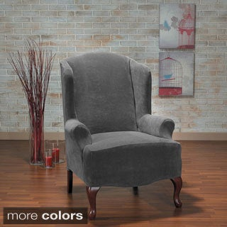Hanover Plush One Piece Stretch Wing Back Slipcover