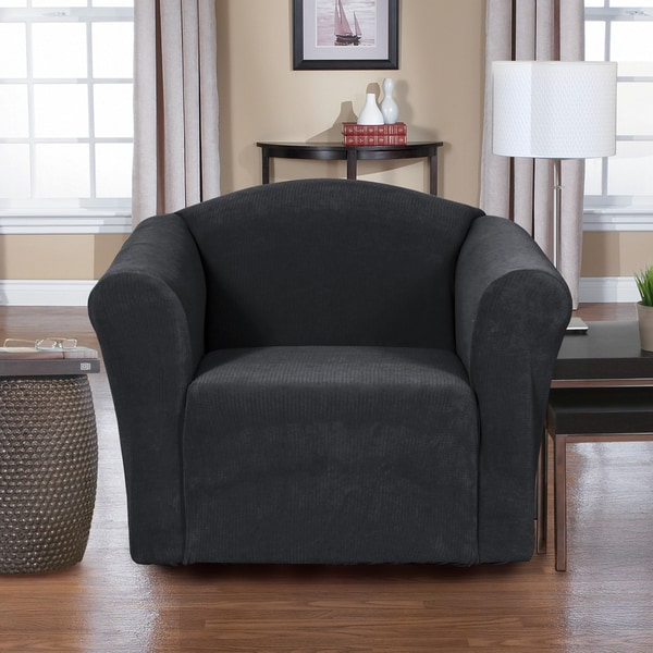 Dimples 1-piece Stretch Chair Slipcover - Free Shipping On Orders Over