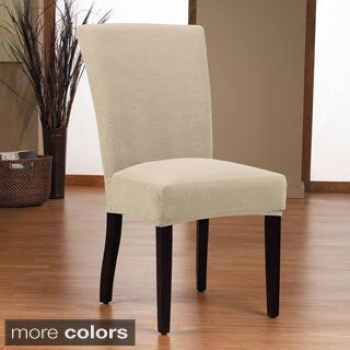 Dimples 1-piece Stretch Dining Chair Slipcover