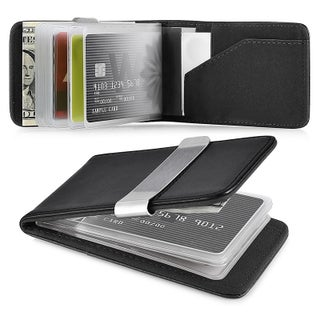 Zodaca Genuine 100-percent Leather Money Clip Wallet with Extra Business Card/ Credit Card Holder (5 options available)