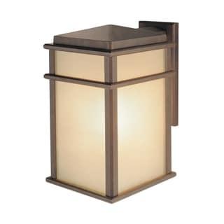 Corinthian Bronze Single-light Mission Lodge Wall Lantern