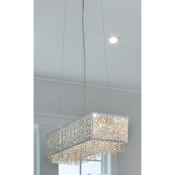 Maxim lighting spiral chrome finished metal 9 light linear pendant