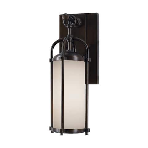 Feiss 1 - Light Wall Lantern, Espresso