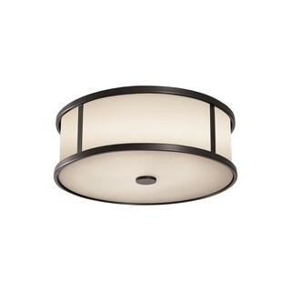 Feiss 3 - Light Ceiling Fixture, Espresso