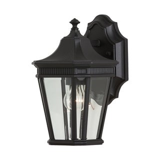 Feiss 1 - Light Wall Lantern, Black