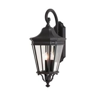 3 -light Cotswold Lane Wall Lantern in Black