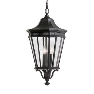 3 -light Cotswold Lane Outdoor Pendant in Black