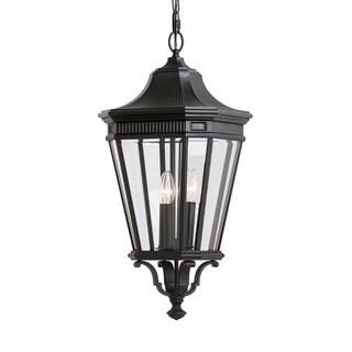 Feiss 3 - Light Outdoor Pendant, Black