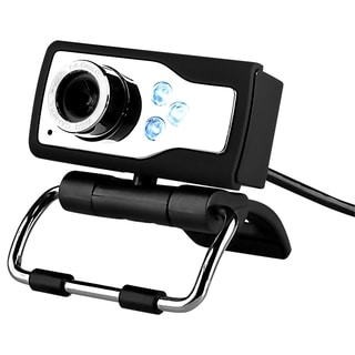 INSTEN Black/ Silver 3 Mega Pixel USB 2.0 Digital LED Webcam with Microphone Clip-on For Computer PC Laptop