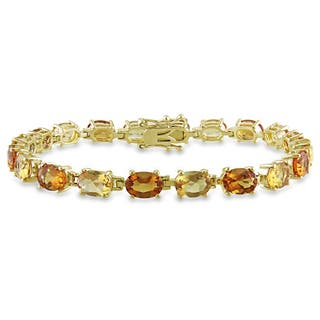 Miadora Sterling Silver 14ct TGW Citrine Bracelet|https://ak1.ostkcdn.com/images/products/9722362/P16896682.jpg?impolicy=medium