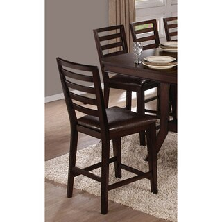 Bobbie Dark Espresso Counter Chairs (Set of 2)