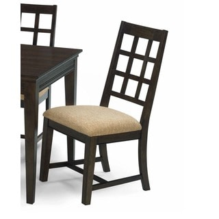 Casual Traditions Walnut Side Dining Chairs (Set of 2)