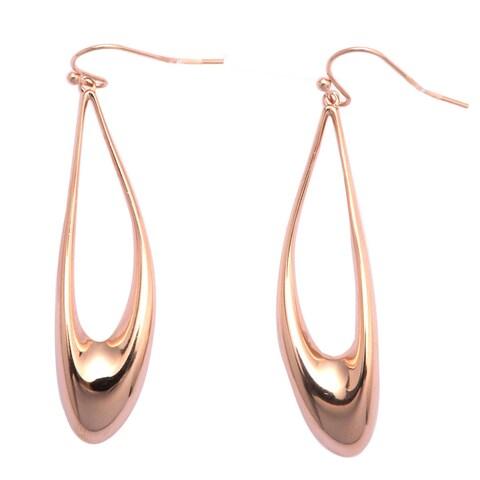 De Buman Rose Gold Plated Dangle Earrings
