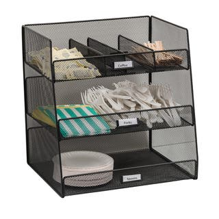Safco Onyx Steel Mesh Break Room Organizer|https://ak1.ostkcdn.com/images/products/9722448/P16896898.jpg?impolicy=medium