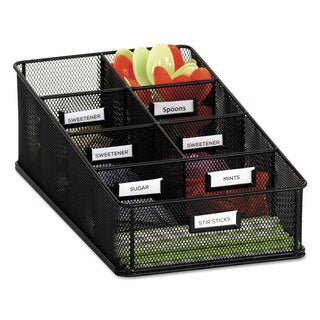 Safco Onyx Steel Mesh Black Condiment Carton