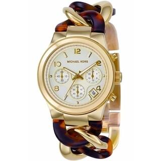 Michael Kors Women's MK4222 Runway Twist Gold Tone Ion Plated Steel Watch
