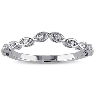 Miadora 10k White Gold Diamond Accent Contour Band|https://ak1.ostkcdn.com/images/products/9722503/P16896942.jpg?impolicy=medium