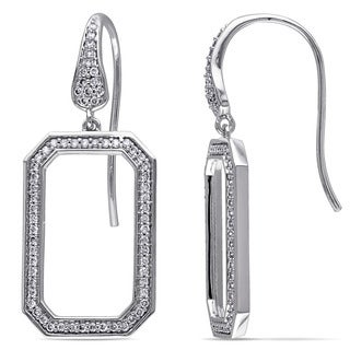 Miadora Signature Collection 14k White Gold 1/2ct TDW Diamond Earrings