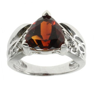 Michael Valitutti 14k Gold Fire Citrine And Diamond Ring