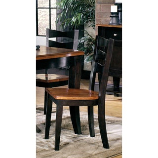 Jake Black Oak Dining Chairs (Set of 2)