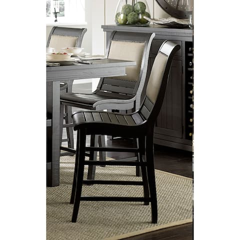 Willow Distressed Black Counter Chairs (Set of 2) - counter height