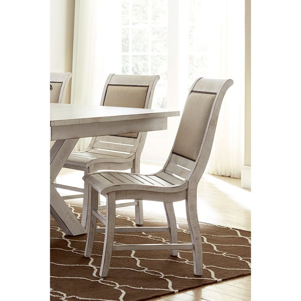 Willow Distressed White Dining Chairs Set Of 2 Free Shipping Today Over