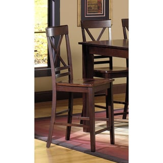 Winston Espresso Counter Dining Chairs (Set of 2)