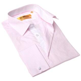 BriO Milano Men's Pink/ White Button Down Dress Shirt