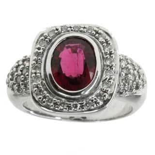 Michael Valitutti 14k Rubelite And Diamond Ring|https://ak1.ostkcdn.com/images/products/9722703/P16897092.jpg?impolicy=medium