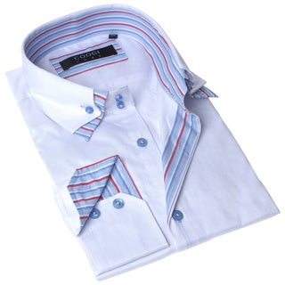 Coogi Luxe Men's White Button Down Dress Shirt