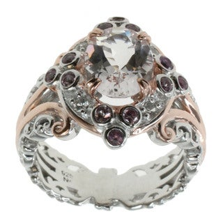 Michael Valitutti Morganite And Sapphire Ring