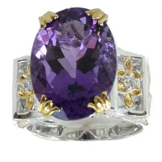 Michael Valitutti Amethyst And Sapphire Ring|https://ak1.ostkcdn.com/images/products/9722750/P16897107.jpg?impolicy=medium